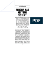 1 Gerc Religija Kao Kulturni Sistem