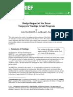 TSG Savings Study
