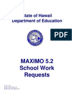 MAXIMO 5.2 School Work Requests