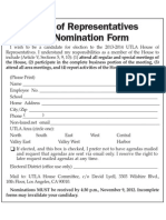 UTLA House of Reps Self Nomination Form