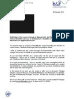 Myers Letter Re EML Deloittes