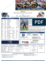 Week 8 - Rams vs. Patriots