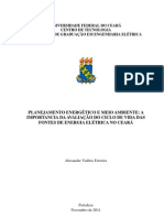 PLANEJAMENTO ENERGÉTICO E MEIO AMBIENTE