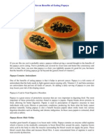 Seven Benefits of Eating Papaya