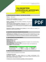 Palonosetrón en profilaxis antiemética por quimioterapia