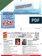 Vicki Campbell Post Card General Mailer