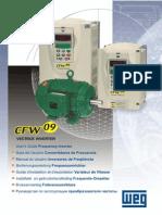 WEG Cfw 09 Inversor de Frequencia 0899.5180 3.3x Manual Portugues Br