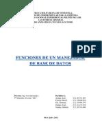 Funciones de Un Manejador de Base de Datos