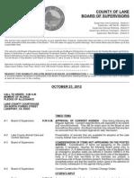 102312 Lake County Board of Supervisors Agenda