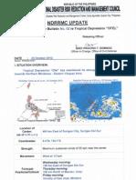 NDRRMC SWB No. 02 Re Tropical Depression OFEL