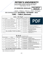 Spu November December 2012 Time Table