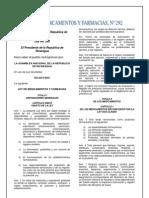 Ley n 292 Ley de Medicamentos y Farmacia