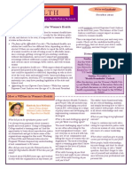 WEALTH - WIN Women's Health Policy Network Newsletter October 2012