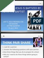 Lesson 6- Baptism of Jesus