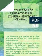 10.Acciones de Los Farmacos en El Sistema Nervioso Central