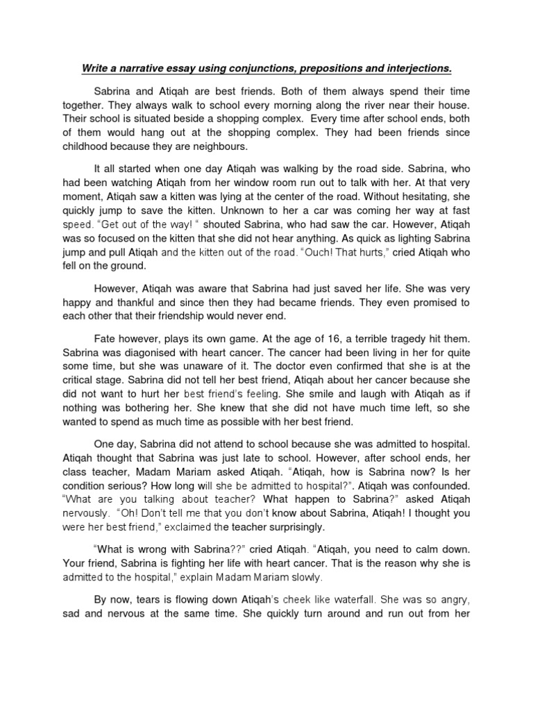 narrative essay about love experience