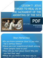 Lesson 7 Anointing of the Sick