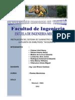 PROYECTO DE INSTALACIÓN DEL SISTEMA DE SUMINISTRO DE AGUA EN LA PLANTA DE EMBUTIDOS DON JAMON
