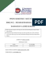 BML 3012-Sejarah Bahasa Melayu (Esei Ilmiah-Bahagian A)