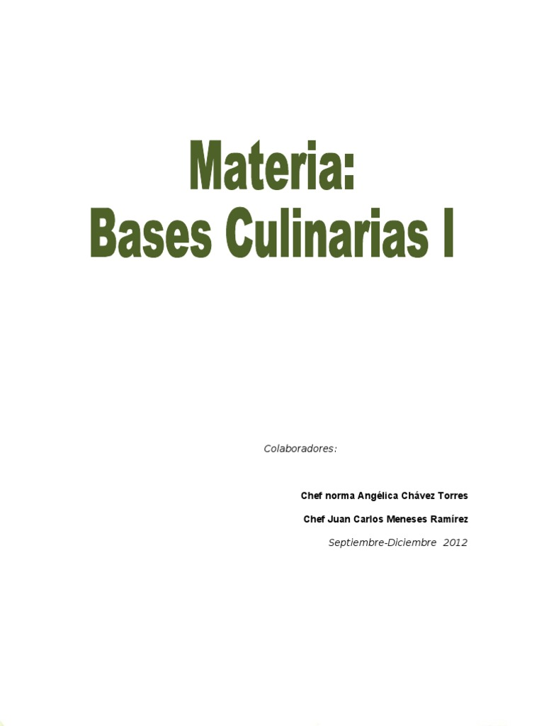 antologia bases culinarias