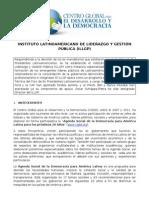 INSTITUTO LATINOAMERICANO DE LIDERAZGO Y GESTIÓN PÚBLICA