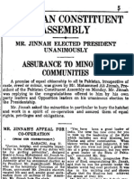 Jinnah's 11 August, 1947 Speech