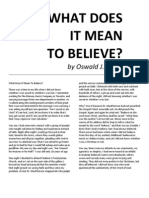 What Does It Mean to Believe by Oswald J. Smith