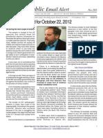 285 - Benjamin Fulford for October 22, 2012