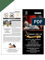 Banglore Dog Show Schedule & Information 2012