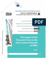 The Impact of the Financial Crisis on the Job Creation Potential of SMEs
