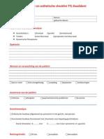 functionele en esthetische checklist ttl kwalident