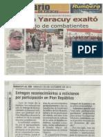 Agrupamiento de Milicia Yaracuy Exalto Trabajo de Combatientes en Distincion a Las Labores Del 7 de Octubre