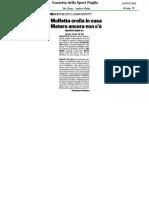 15 Ott.'12 GAZZETTA DELLO SPORT PUGLIA (Molfetta Crolla in Casa, Di Francesco Verdesca)