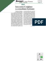 19 Ott.'12 MESSAGGERO FR (Contro Corigliano Per Consolidare Il Primato, Di Beniamino Cobellis)