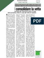 20 Ott.'12 PROVINCIA FR (Sora Vuol Consolidare La Vetta, Di Gianpiero Pugliesi)