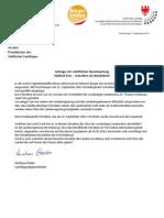 Werbeschreiben der Landesregierung  Anfrage der BürgerUnion und Antwort LR Widmann