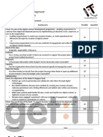Digital Content Development assessment proforma
