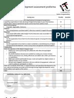 Organisational Development assessment proforma