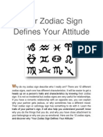 Your Zodiac Sign Defines Your Attitude