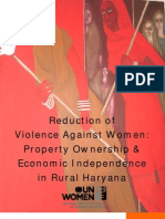 Reduction of Violence Against Women and Property Rights India