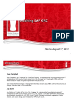 Auditing SAP GRC