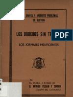 Los Obreros Sin Trabajo y Los Jornales Insuficientes - Pildain