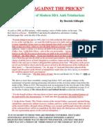 "Modern SDA Anti-Trinitarians ""Kicking Against the Pricks"" (an Oct. 2012 research paper)"