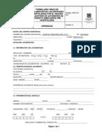 URG-FO-023 Formulario Unico de Reclamacion de las Entidades Hospitalarias por el Seguro Obligatorio de Accidentes de Transito Ambulancia Pre Hospitalaria