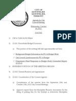 10232012-City Council Agenda
