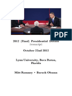 2012 (Final) Presidential Debate (transcript)