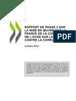 Rapport de l'Ocde sur la politique de la France pour lutter contre la corruption transationale