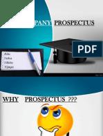 Company Law Prospectus
