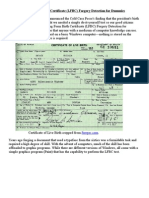 Long Form Birth Certificate Forgery Detection for Dummies
