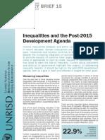 Inequalities and the Post-2015 Development Agenda